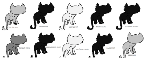 My cats, all handdrawn سے طرف کی me