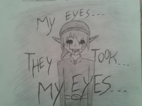 BEN DROWNED wallpaper titled My eyes...They took...my eyes...