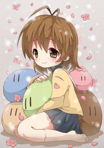 Okazaki Nagisa fondo de pantalla probably with anime entitled Nagisa¸.•´¯`♡