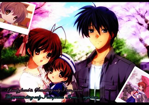 Okazaki Nagisa achtergrond possibly containing a portrait and anime entitled Nagisa¸.•´¯`♡