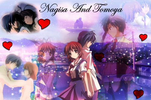 Okazaki Nagisa wallpaper probably containing anime entitled Nagisa¸.•´¯`♡