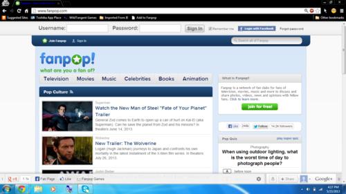 Fanpop Hintergrund entitled New Fanpop login