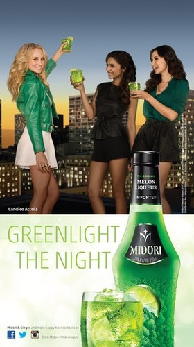 New advertisements for the 2013 Midori campaign feauturing Candice.
