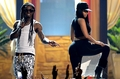 Nicki nd Wayne Takn the Stage