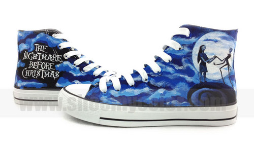 Nightmare Before natal hand painted sneakers
