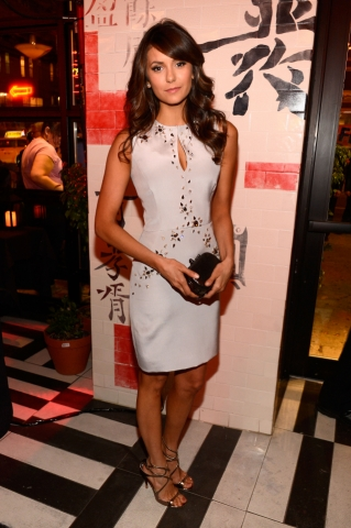 Nina Dobrev at The CW Networks 2013 Upfront after party.