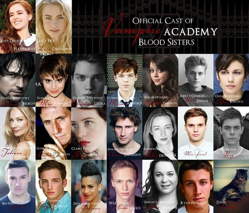 Vampire Academy achtergrond possibly with a portrait titled Ofiicial movie cast
