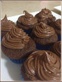 Orange Chocolate Cupcakes - chocolate photo