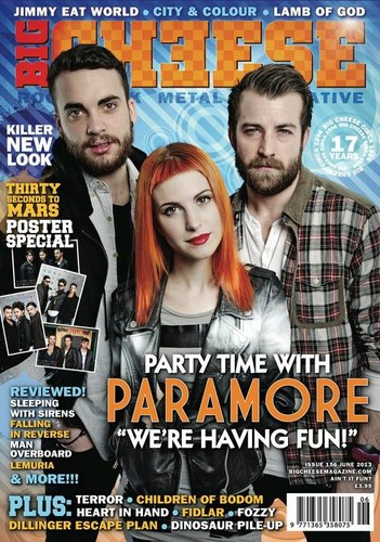 Paramore on the cover of Cheese Magazine