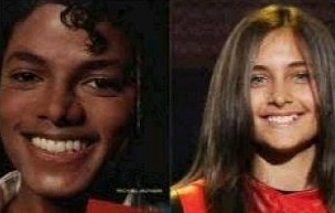 Paris and Michael Jackson kertas dinding containing a portrait titled Paris & Michael
