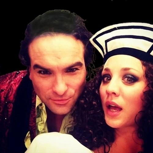 Penny and Leonard-Johnny y Kaley