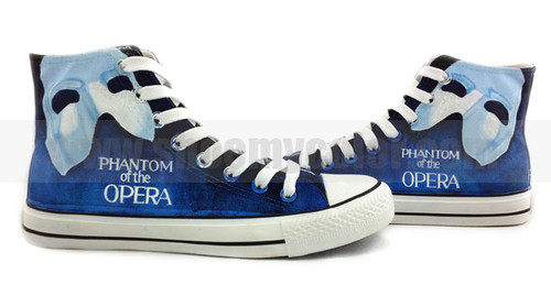 Phantom of the Opera customized sneakers
