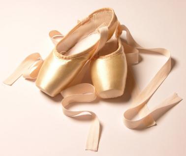 berwarna merah muda, merah muda Ballet Shoes
