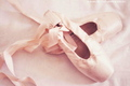 Pink Ballet Shoes - pink-color photo