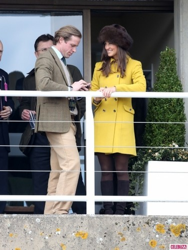 Pippa Attends Cheltenham Races in the UK