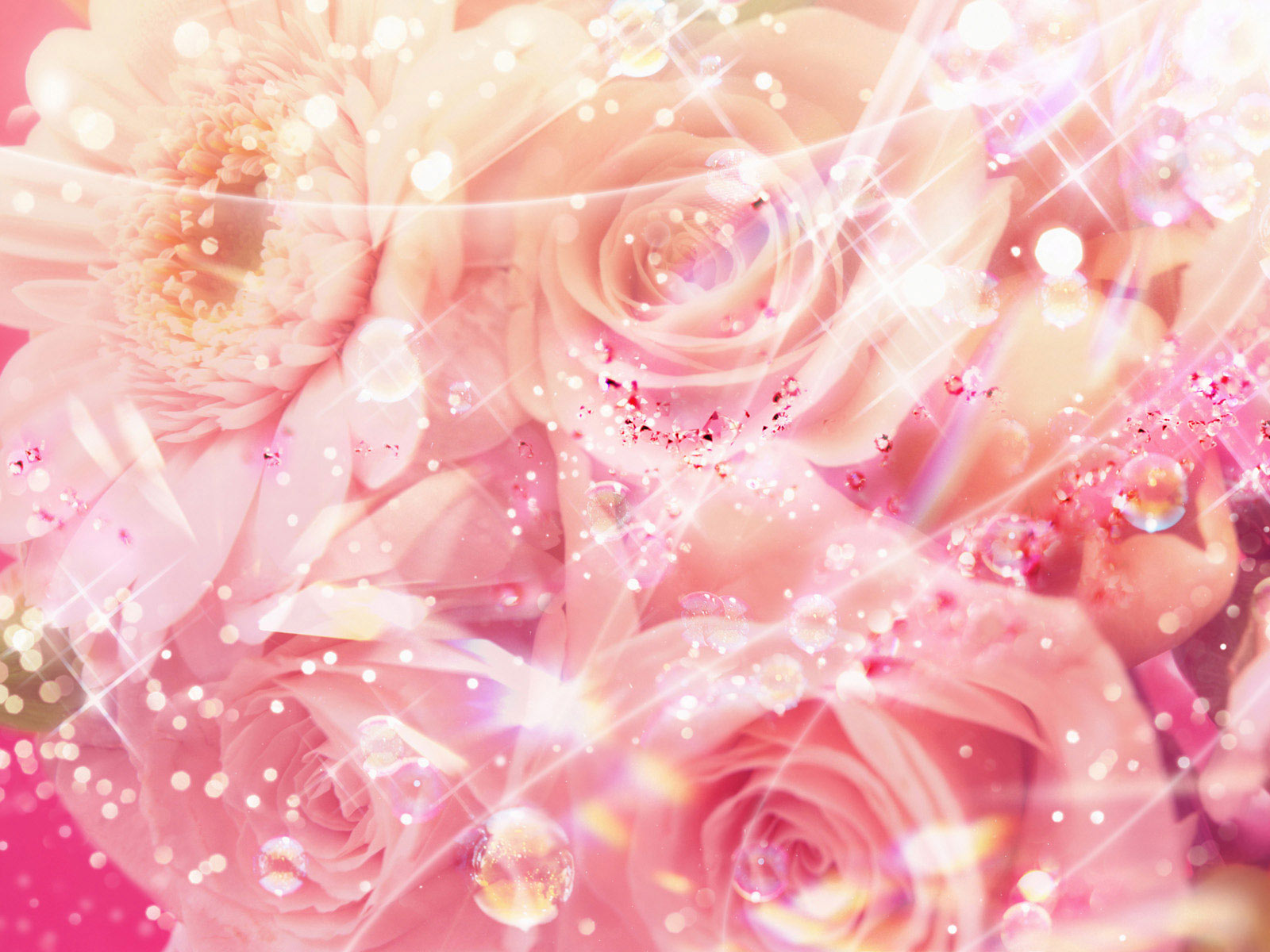 Pretty Pink Roses Wallpaper - Pink (Color) Photo (34590749 ...