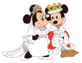 Prince Mickey and Princess Minnie - The Princess on the मटर