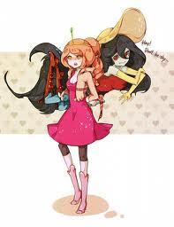 Princess bubblegum and Marceline bff