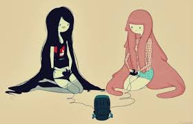 Adventure Time With Finn and Jake wolpeyper called Princess bubblegum and Marceline bff