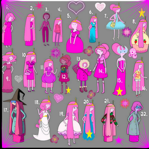 अड्वेंचर टाइम वित फिन आंड जेक वॉलपेपर titled Princess bubblegum clothes