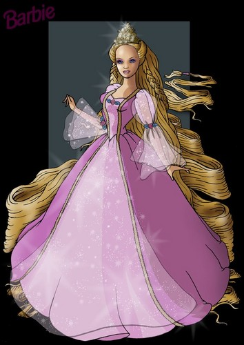 Barbie as Rapunzel wolpeyper titled Rapunzel