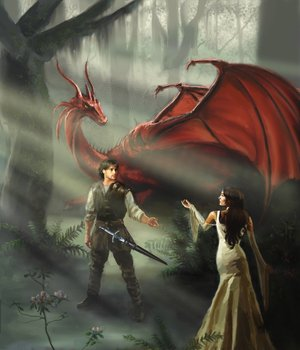 Richard, Kahlan and Scarlet