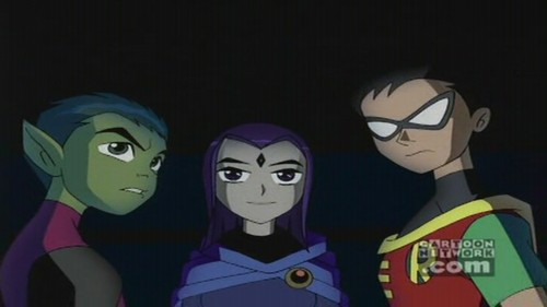 Robin, Raven, and Beastboy