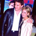Sarah Michelle Gellar and David Borenanaz
