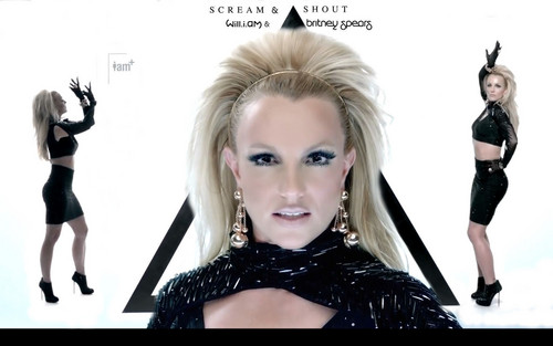 Britney Spears karatasi la kupamba ukuta titled Scream and Shout