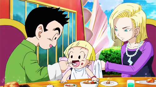 Krilin, Android 18 and Marron in 'Battle Of Gods' DBZ Movie 2013