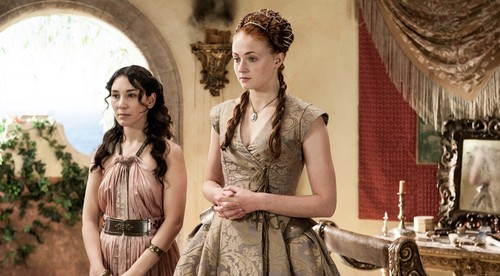 Game of Thrones wallpaper probably containing a bridesmaid and a dinner dress called Second Sons (3x08)