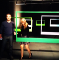 Stephen Amell and Emily Bett Rickard CW Promo 2013  - arrow-cw photo
