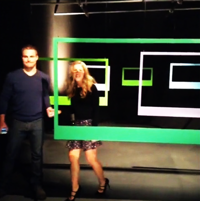 Stephen Amell and Emily Bett Rickard CW Promo 2013