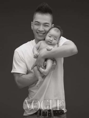 big bang wallpaper possibly containing a neonate and skin entitled TAEYANG & G-DRAGON for VOGUE (December 2009)