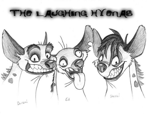 Hyenas from Lion King 壁纸 probably with 日本动漫 called THE LAUGHING HYENAS 2