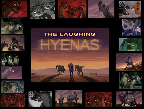 Hyenas from Lion King karatasi la kupamba ukuta with anime titled THE LAUGHING HYENAS
