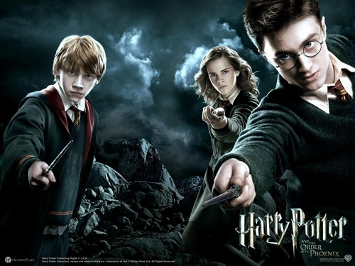 Harry Potter Hintergrund entitled The Golden Trio Pics