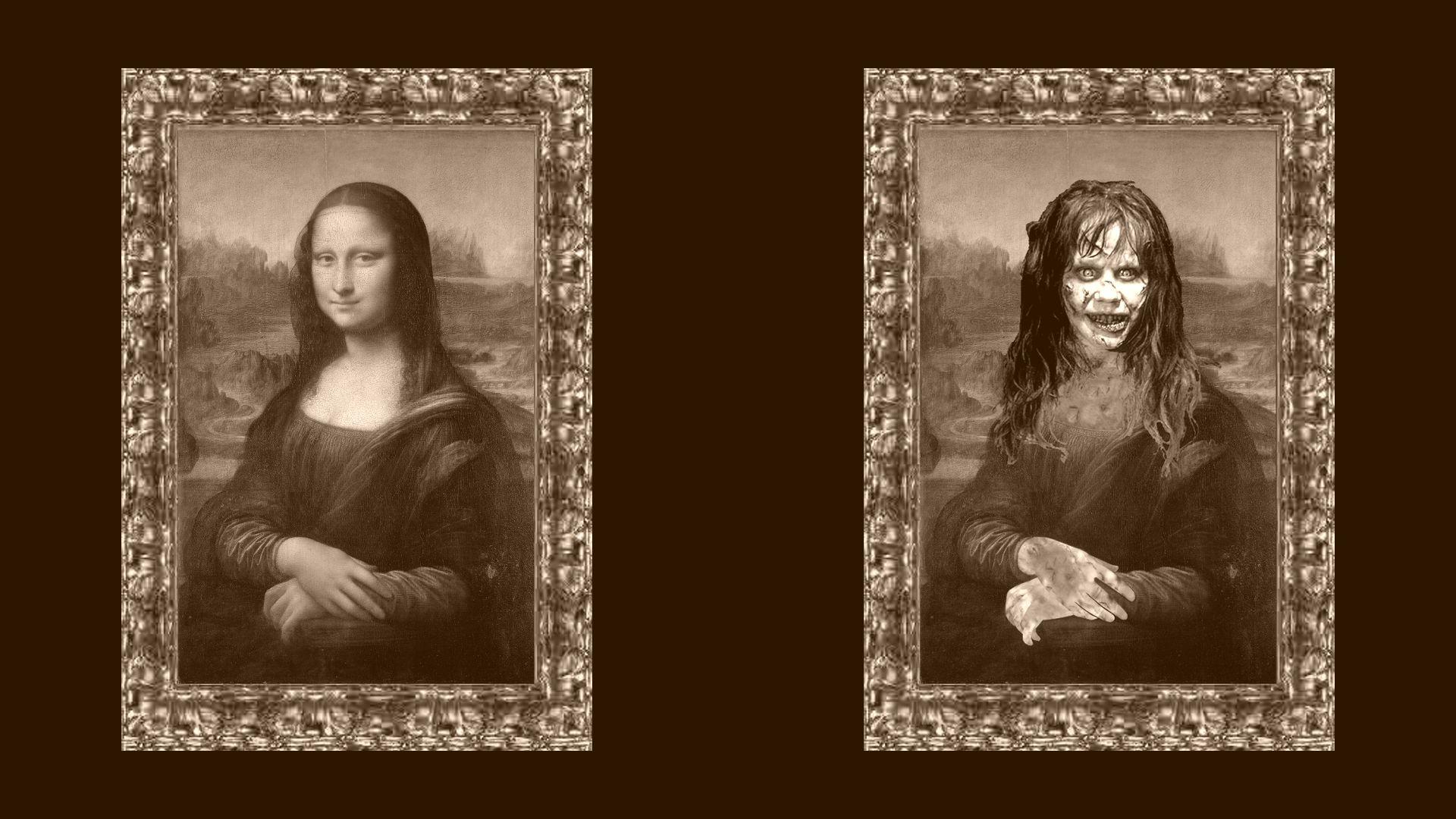 The Mona Lisa smile - la Joconde