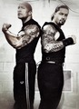 The Rock and Roman Reigns - wwe photo
