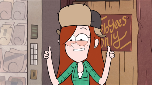 Gravity Falls پیپر وال containing عملی حکمت titled Thumbs Up Wendy