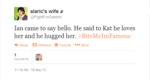 Tweet about Ian and Kat at the convention in Paris