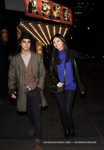 VICTORIA AND AVAN JOGIA HANGING OUT IN NEW YORK CITY- OCTOBER 23, 2012