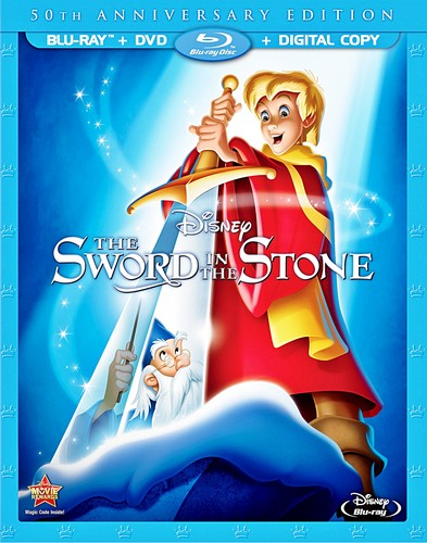 Walt Disney Blu-Ray Covers - The Sword in the Stone: 50th Anniversary Edition Blu-Ray