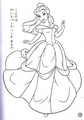 Walt ডিজনি Coloring Pages - Princess Belle