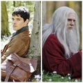 Young&old - merlin-on-bbc fan art