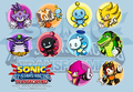all stars transformed sticker concept 02 - sonic-the-hedgehog fan art