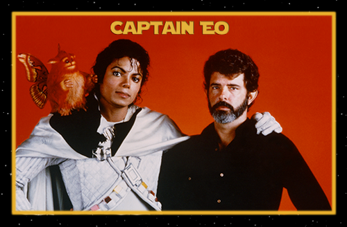 Captain Eo fond d'écran probably with a newspaper, a sign, and animé entitled captain eo