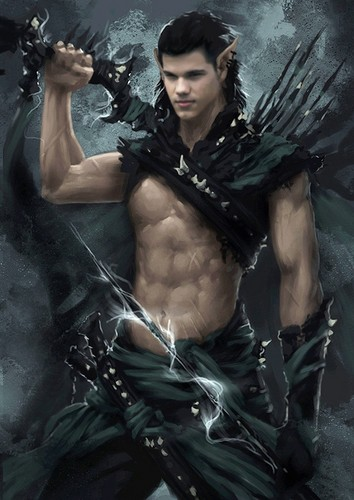 Taylor Lautner پیپر وال probably with a رائفل مین, رائفل titled elf_warrior