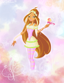 flora with lollipop - the-winx-club fan art