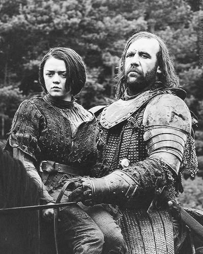Sandor Clegane & Arya Stark
